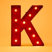 Glitz Home Marquee LED Lighted K Letter Block