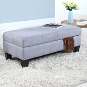 Madison Home USA Classic Linen Storage Bedroom Bench; Light Gray