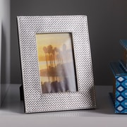 FashionCraft Wide Border Metallic Picture Frame; Metallic Silver