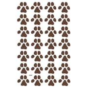 Wallums Wall Decor Dog Paw Prints Wall Decal (Set of 28); Chocolate Brown
