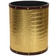 Oriental Furniture 2.9 Gallon Fabric Trash Can; Gold