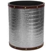 Oriental Furniture 2.9 Gallon Fabric Trash Can; Silver
