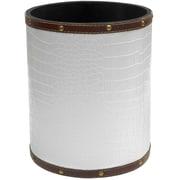 Oriental Furniture 2.9 Gallon Fabric Trash Can; White