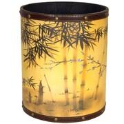 Oriental Furniture Bamboo Tree 2.9 Gallon Fabric Trash Can
