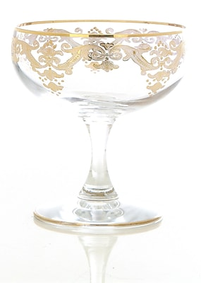 ClassicTouch Vivid Dessert Bowl (Set of 4); Beige WYF078279420949