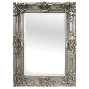 Selections by Chaumont Mayfair Beveled Wall Mirror; Antique Silver
