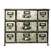 American Mercantile Faded Charm 9 Drawer Desktop Storage Chest