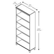 Bush Furniture Tuxedo 5 Shelf Bookcase, Hansen Cherry (WL21465)