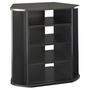 Bush Furniture Visions Tall Corner TV Stand, Black (MY37927-03)