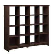 "Bush Furniture Buena Vista 60"" x 14.21"" x 60.19"" 16 Cube Storage Madison Cherry (MY13803-03)"