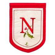 Evergreen Enterprises, Inc Holiday Monogram Garden Flag; N