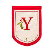 Evergreen Enterprises, Inc Holiday Monogram Garden Flag; Y