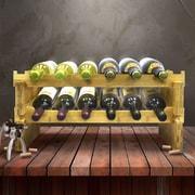 Sorbus 2-Tier Stackable Bamboo 12 Bottle Tabletop Wine Bottle Rack