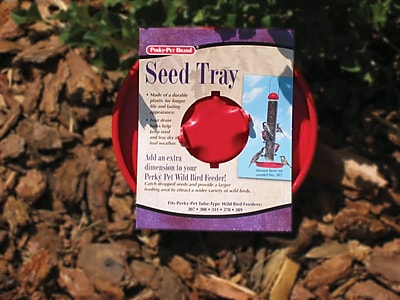 Perky Pet Red Seed Tray Bird Feeder (WYF078277964859) photo
