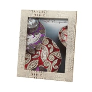 Red Pomegranate Picture Frame; Beige