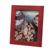 Red Pomegranate Picture Frame; Red
