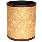 Oriental Furniture Damask 2.9 Gallon Fabric Trash Can
