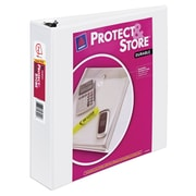 """"""" 2"""" Avery® Protect and Store View Binder with Slant-D™ Rings, White"""