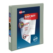 "Avery(R) Heavy-Duty View Binder with 1"" One Touch EZD(TM) Ring 79409, Gray"