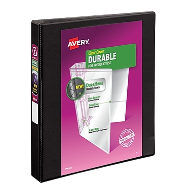 Avery Durable 1-Inch Slant D 3-Ring View Binder, Black (17011)