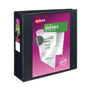 """4"""" Avery® Durable View Binder with EZD Rings, Black"""