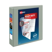 """2"""" Avery® Heavy-Duty View Binders with One Touch Slant-D™ Rings, Gray"""