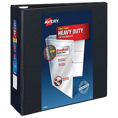 Avery Heavy-Duty 4-Inch Slant D 3-Ring View Binder, Black (79-604)