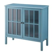 Homestyle Collection Accent Cabinet; Teal Blue