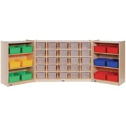 Steffy Folding 25 Compartment Shelving Unit w/ Casters; Multi-Colored