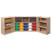 Steffy Folding 38 Compartment Shelving Unit w/ Casters; Multi-Colored