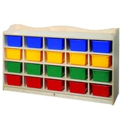 Steffy 20 Compartment Cubby wtih Casters; Multi-Color