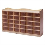 Steffy 30 Compartment Cubby wtih Casters; Multi-Color