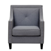 Inspired Home Co. Mckinley Club Chair; Charcoal Gray
