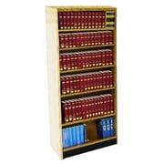 W.C. Heller Open Back Single Face Shelf Adder 82'' Standard Bookcase; Bleached Mahogany