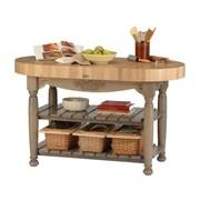 John Boos American Heritage Prep Table w/ Butcher Block Top; Useful Gray by