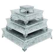 Urban Designs Event Essentials Square Wedding Cake Stand 4 Piece Set