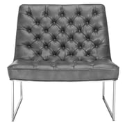 Sunpan Modern Club Toro Tufted Side Chair; Grey Nobility