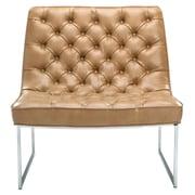 Sunpan Modern Club Toro Tufted Side Chair; Peanut Nobility