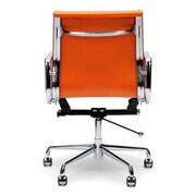 C2A Designs Lark Mid Back Leather Desk Chair; Orange