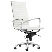 C2A Designs Toni High Back Leather Executive Chair; White