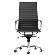 C2A Designs Toni High Back Leather Executive Chair; Black