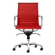 C2A Designs Toni Mid Back Leather Executive Chair; Red