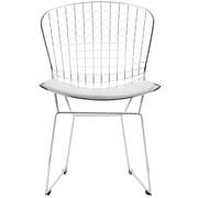 C2A Designs Bertoia Side Chair; White