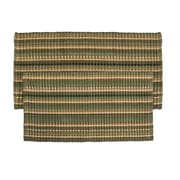 Ess Ess Exports 2 Piece Silk Ribbed Hand-Woven Olive Green Area Rug Set