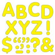 "Trend Enterprises® STICK-EZE® 2"" Letter and Mark Set, Yellow"