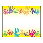 Trend Enterprises® Kindergarten - 3rd Grades Name Tag, Rainbow Handprints
