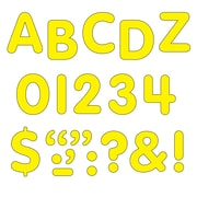 "Trend Enterprises® STICK-EZE® Letter, Number and Mark Set, 1"", Yellow"