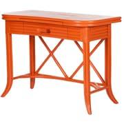 David Francis Furniture Writing Desk; Citrus Orange