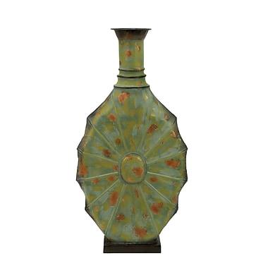 Cole & Grey Metal Floor Vase; 26'' H x 13'' W x 4'' D
