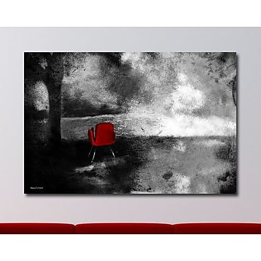 Maxwell Dickson ''Red Chair'' Graphic Art on Canvas; 16'' H x 20'' W